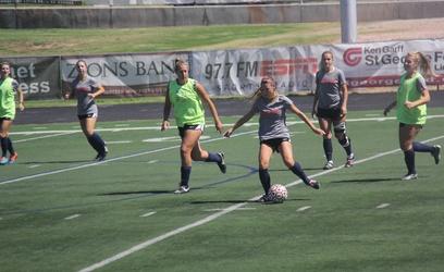 Women's soccer practices. The Dixie State University women's soccer team fell at Azusa Pacific University 2-0 Thursday.