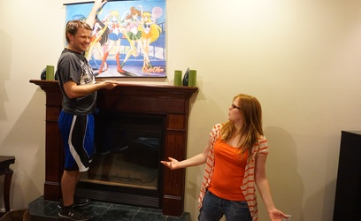 """Chad Winward, a DSU alumnus, tries to create a """"anime-friendly"""" home by putting up a Sailor Moon Poster which creates an issue with Hayley Lent, a DSU alumna."""